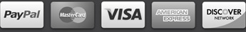 Accepted Secure Payment Types: Paypal, Mastercard, American Express, Visa, Discover